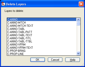 Layer Delete Dialog
